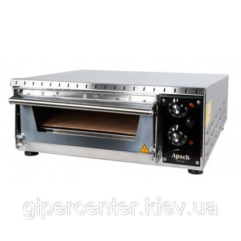 Электрическая мини-печь для пиццы Apach AMS1 (одна камера 350х410х75 мм), фото 2