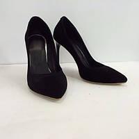 Женские туфли лодочки из натуральной замши