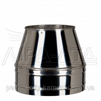 Конус для дымохода (термо) 1 мм н/н AISI 321