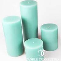 Свеча декоративная цилиндрическая пеньковая 6 см * 12 см цвета в ассортименте