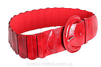 Стильный пояс для женщин красного цвета