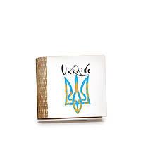 Шкатулка-книга на магните с 4 отделениями Блакитний герб