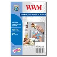 Фотобумага WWM матовая на магнитной основе 10см x 15см , 20л (M.MAG.F20)