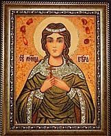 Иконы именные. Икона из янтаря Святая мученица Вера