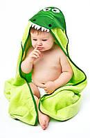 Детское махровое полотенце с уголком Sensillo Water Friends Green (24174)