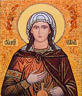 Икона из янтаря под заказ Святая муч. Светлана (Фотина)