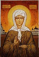 Иконы из янтарной крошки. Икона из янтаря Святая Матрона Московская