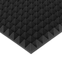 """Акустический поролон """"Пирамида 70"""" 1*1 м. звукопоглощающий. Чёрный графит"""
