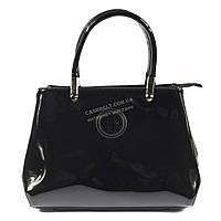 Оригинальная лаковая женская сумка черного цвета KISS ME art. A-4819-1