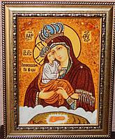 Икона из янтаря Почаевская Пресвятая Богородица