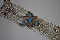 Романтический подарок для женщин  - звезда Востока с голубой эмалью