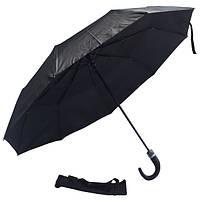 Зонт черный с клапаном 307W