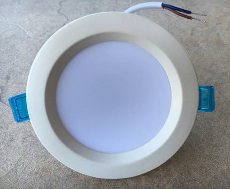 Светодиодный светильник встраиваемый SL-009 9W 4500К круг. белый Код.54743, фото 2