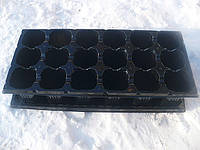 Пластиковая кассета для рассады на 18ячеек (+поддон) яч 60 (d) х60 (h)