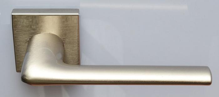 Ручка дверная 1485 матовый никель - квадратная розетка (Convex)