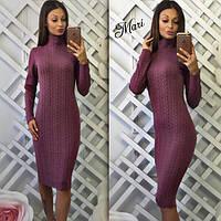 Теплое платье Гольф М218