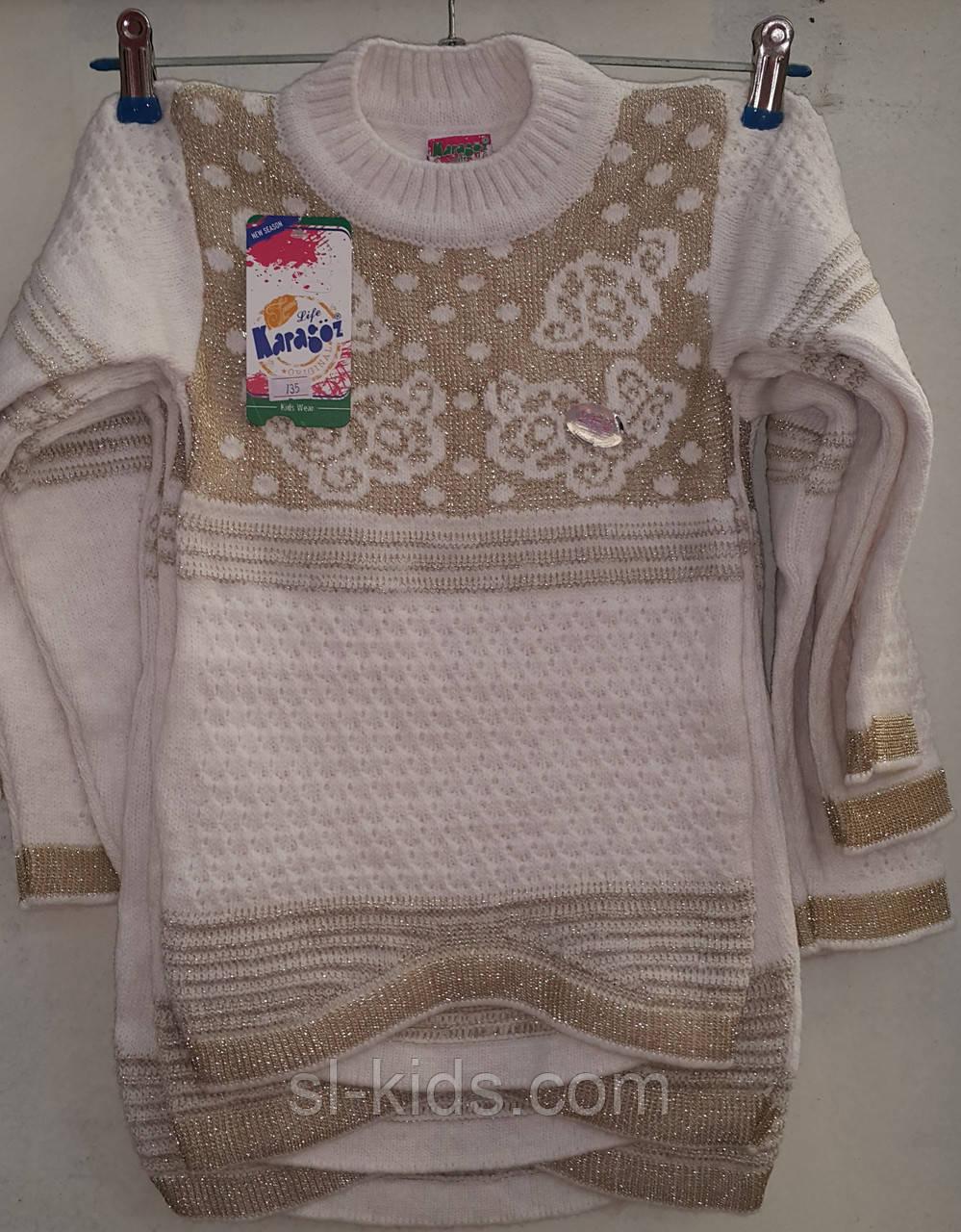 Туника вязка для девочки 5-8 лет (Karagaz03)