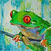 «Лягушка» картина маслом