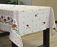 Льняная скатерть на стол 150*220