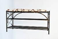 Кованый диван Бамбук 90х30 G-027