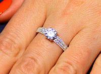 Кольцо серебро 925 проба 17.5 размер АРТ1184