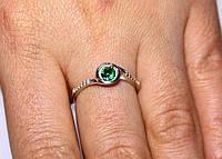 Кольцо серебро 925проба 16.5 размер АРТ1129 Зеленый