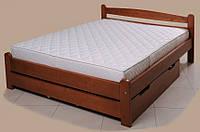 """Кровать """"Вега-4"""" из массива ольхи (Темп)"""