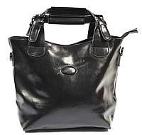 Стильная кожаная объемная женская сумка черного цвета SOLANA art. 50033, фото 1