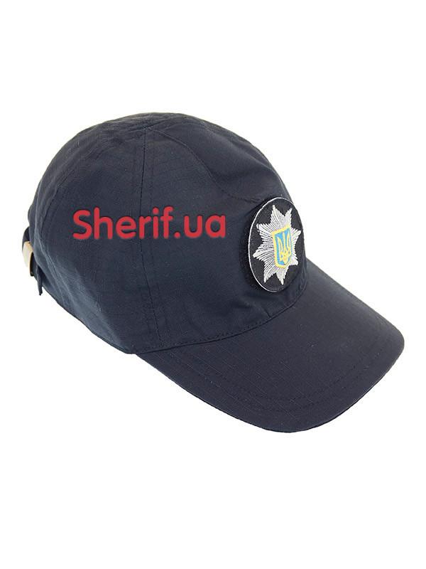 Бейсболка полицейская темно-синяя с velcro Dark blue 7809м