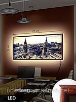 Картина с подсветкой на светодиодах, Восхищающая архитектура