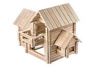 Детский развивающий деревянный конструктор - Коттедж 4 в 1, фото 1