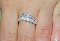Кольцо серебро 925 проба 18 размер АРТ1140, фото 1