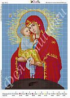 """Схема для вышивки бисером """"Почаевская икона Божьей Матери"""""""