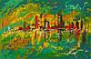 «Город - мираж» картина маслом
