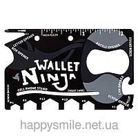 Мульти-кредитка Ninja Wallet 18 в 1, карта выживальщика, мультитул