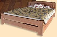 """Кровать """"Лира-4"""" из массива ольхи (Темп)"""