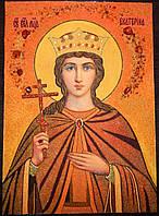 Икона из янтаря Святая Екатерина