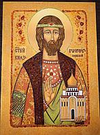 Икона из янтаря Святой Владислав Сербский