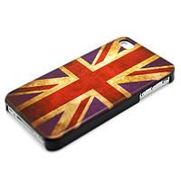 Чехол для iPhone 4/4S - Британский  флаг - ретро стиль