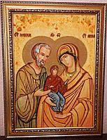 Икона из янтаря Святые праведные Иоаким и Анна