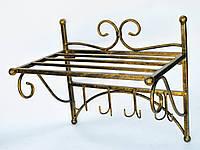 Вешалка кованая настенная в прихожую Одесса