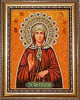 Икона из янтаря Святая Ксения Петербургская
