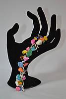 Браслет из натурального камня -Самоцветы-подарок женщине
