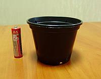 Пластиковый стаканчик для рассады d=80мм черный