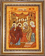 Икона из янтаря Сретение Господне