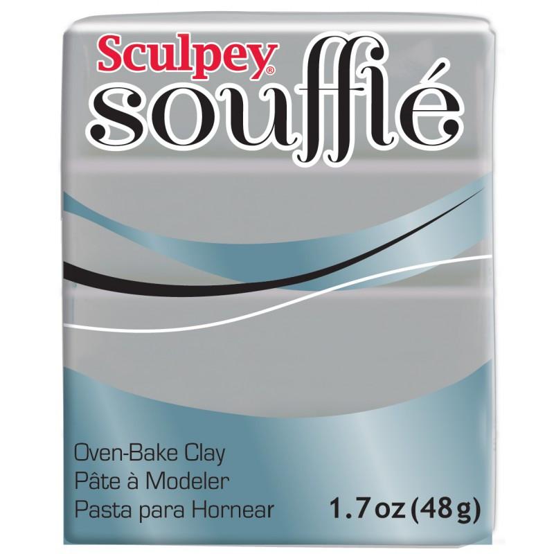 Новинка! Полимерная глина Sculpey Souffle Скалпи Суфле, серый 6645