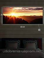 Светящаяся картина (ночник), 29х69см, Рассвет, Киев