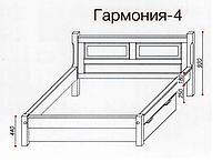 """Кровать """"Гармония-4"""" из массива ольхи (Темп)"""