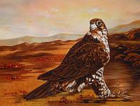 Картина из янтаря Ястреб
