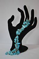 Браслет в подарунок з натурального каменю -Бірюза, фото 1